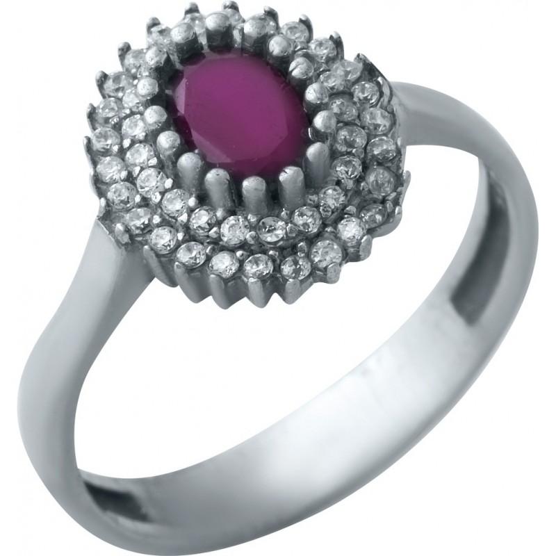 Серебряное кольцо SilverBreeze с натуральным рубином (0847016) 16 размер