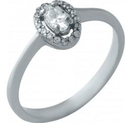 Серебряное кольцо SilverBreeze с фианитами (0929194) 17 размер