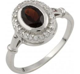 Серебряное кольцо SilverBreeze с натуральным гранатом (1052181) 16.5 размер