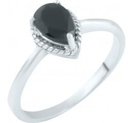Серебряное кольцо SilverBreeze с натуральным сапфиром (1053867) 17 размер