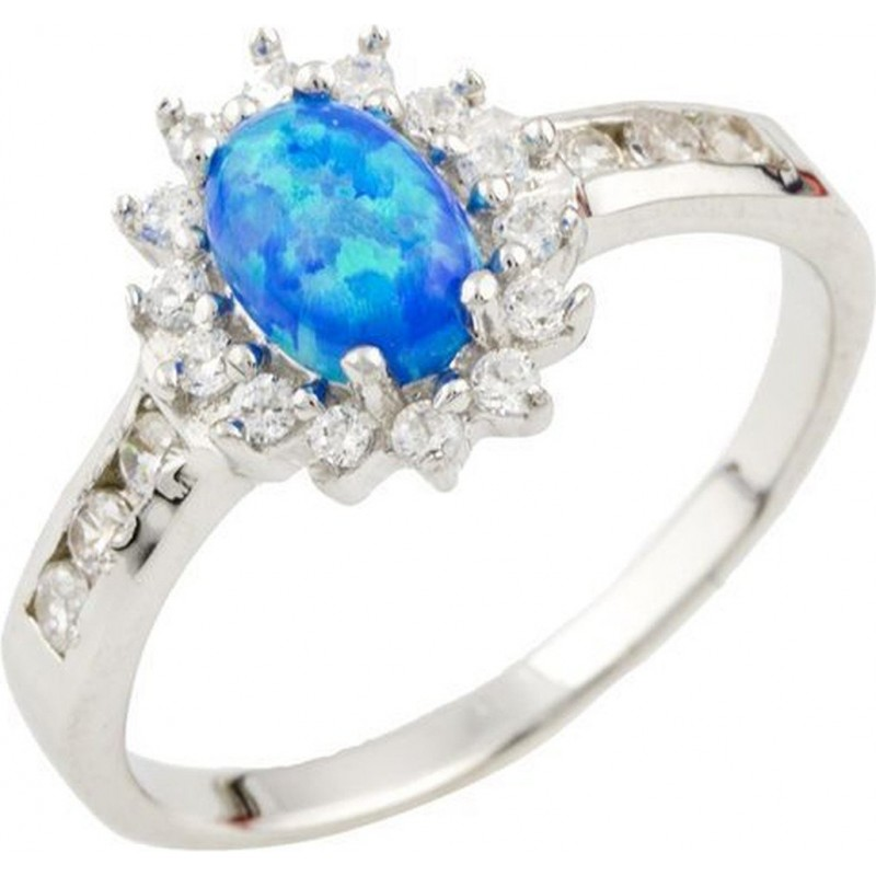 Серебряное кольцо SilverBreeze с опалом (1088210) 17.5 размер