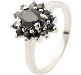 Серебряное кольцо SilverBreeze с натуральным сапфиром (1134870) 18 размер