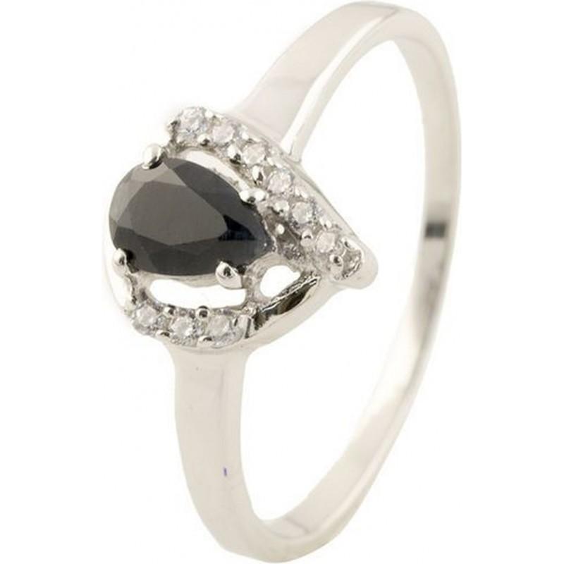 Серебряное кольцо SilverBreeze с натуральным сапфиром (1136201) 16 размер