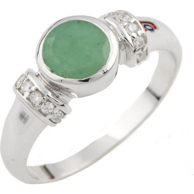 Серебряное кольцо SilverBreeze с натуральным агатом (1137550) 17 размер