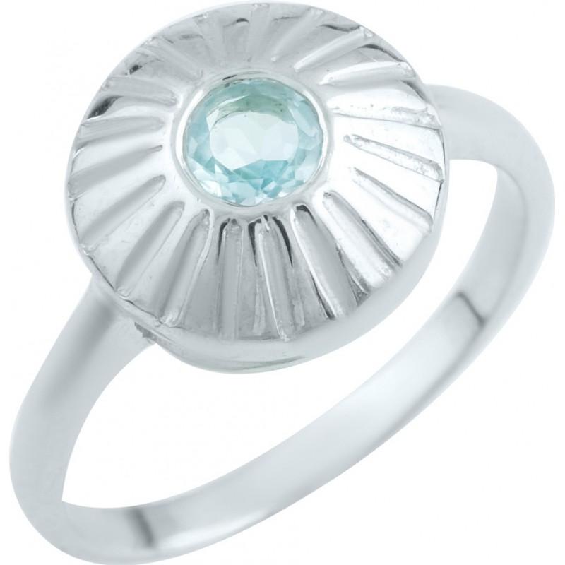 Серебряное кольцо SilverBreeze с натуральным топазом (1146088) 16.5 размер