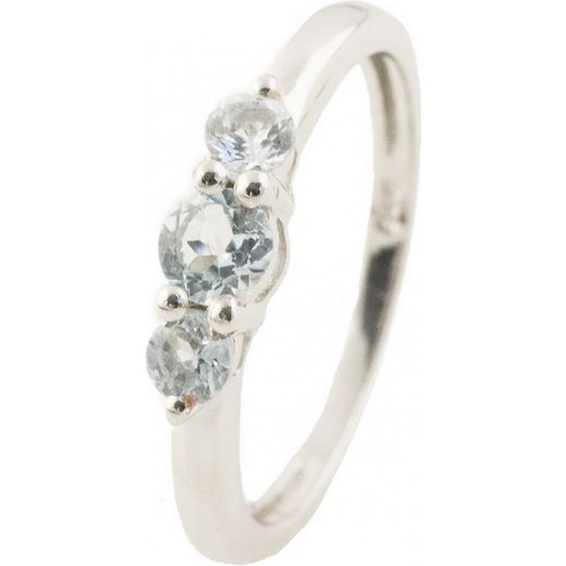 Серебряное кольцо SilverBreeze с натуральным топазом (1146286) 17 размер