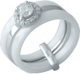 Серебряное кольцо SilverBreeze с керамикой (1150566) 18 размер