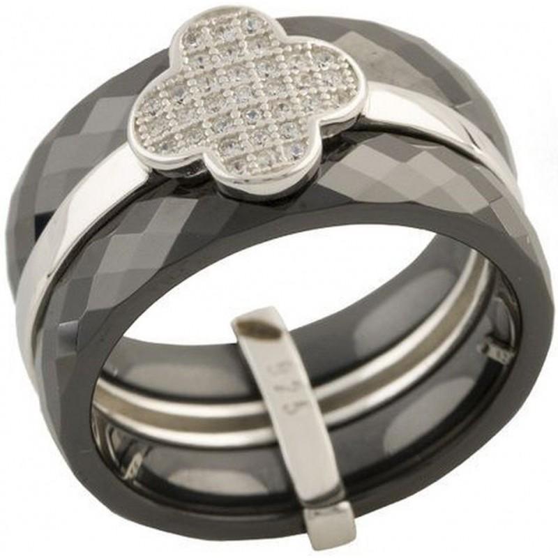 Серебряное кольцо SilverBreeze с керамикой (1150757) 17.5 размер