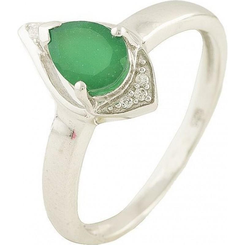 Серебряное кольцо SilverBreeze с натуральным агатом (1181003) 16.5 размер