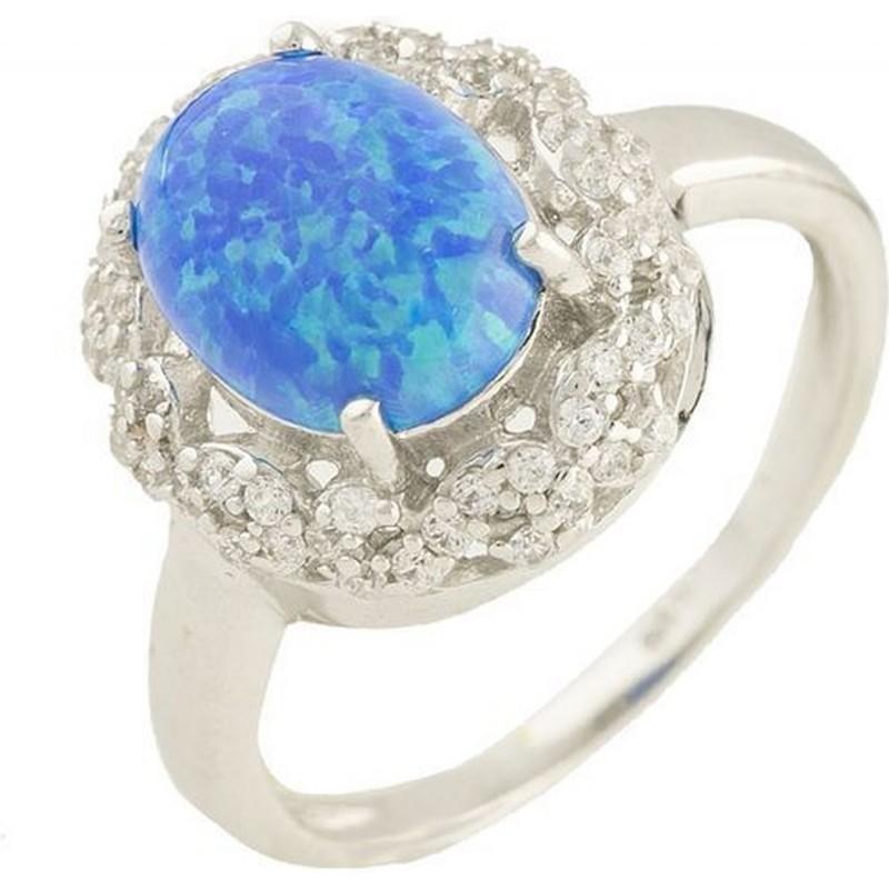 Серебряное кольцо SilverBreeze с опалом (1188026) 16.5 размер