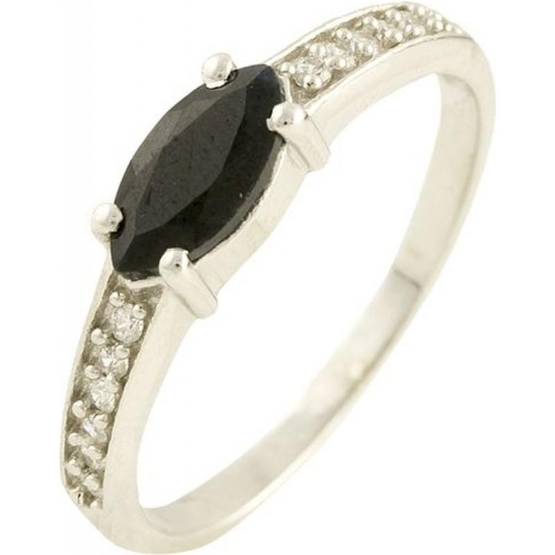 Серебряное кольцо SilverBreeze с натуральным сапфиром (1197356) 17 размер