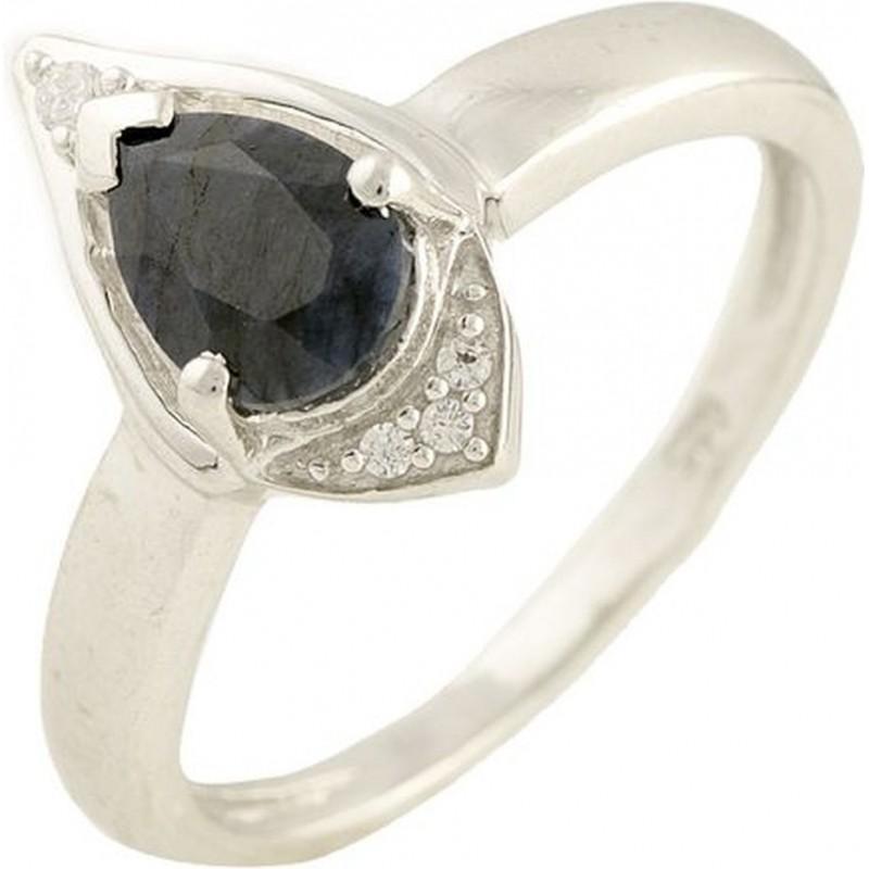 Серебряное кольцо SilverBreeze с натуральным сапфиром (1197516) 18 размер