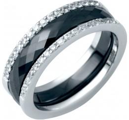 Серебряное кольцо SilverBreeze с керамикой (1214503) 17.5 размер