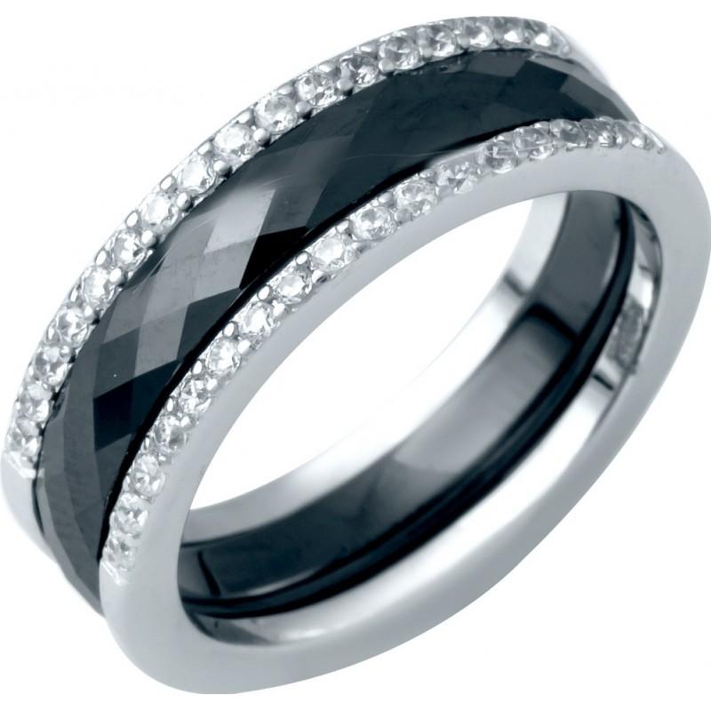 Серебряное кольцо SilverBreeze с керамикой (1214503) 17 размер