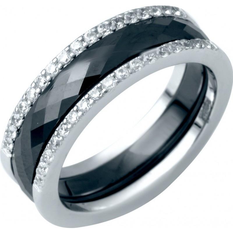 Серебряное кольцо SilverLine с керамикой (1214503) 16 размер