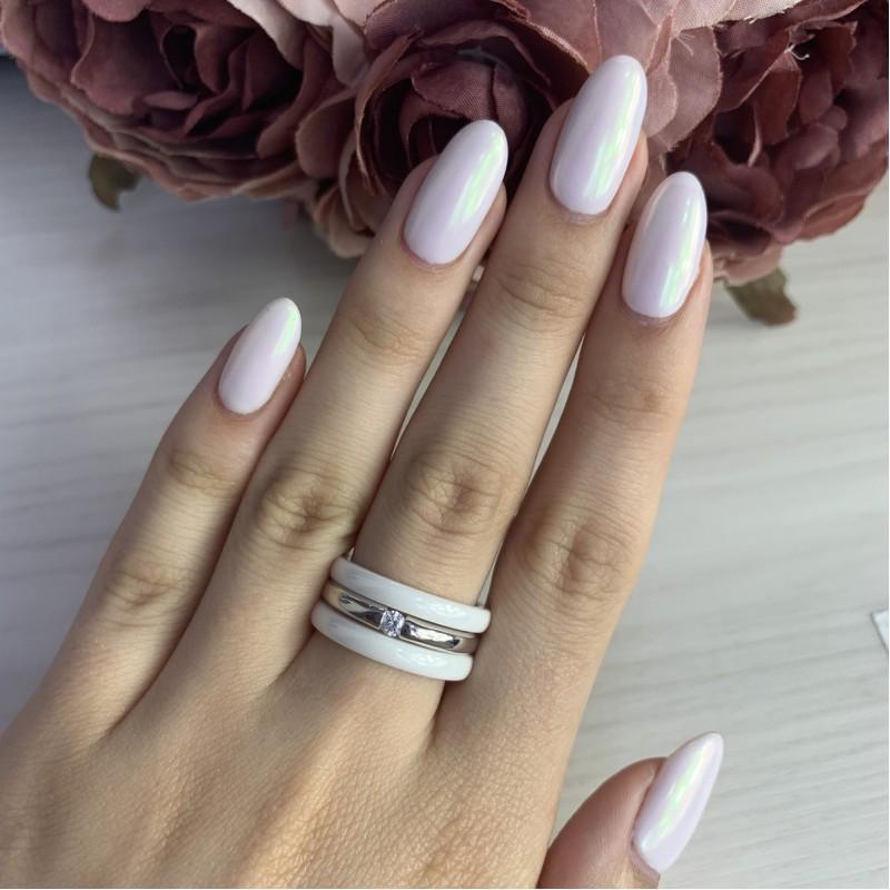 Серебряное кольцо SilverBreeze с керамикой (1214961) 18 размер