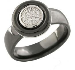 Серебряное кольцо SilverBreeze с керамикой (1221570) 18.5 размер