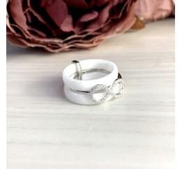 Серебряное кольцо SilverBreeze с , керамикой (1221716) 18 размер