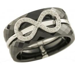 Серебряное кольцо SilverBreeze с керамикой (1221761) 17 размер
