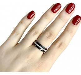 Серебряное кольцо SilverBreeze с керамикой (1223635) 18 размер