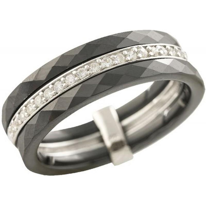 Серебряное кольцо SilverBreeze с керамикой (1223635) 17 размер