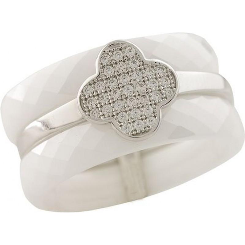 Серебряное кольцо SilverLine с , керамикой (1223741) 19 размер