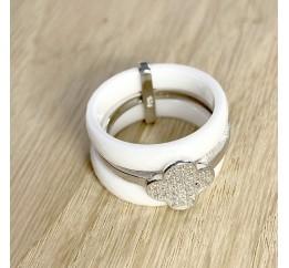 Серебряное кольцо SilverLine с керамикой (1223741) 16.5 размер