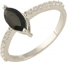 Серебряное кольцо SilverBreeze с натуральным сапфиром (1238653) 16 размер