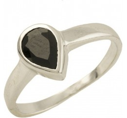 Серебряное кольцо SilverBreeze с натуральным сапфиром (1302255) 17 размер