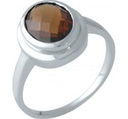 Серебряное кольцо SilverBreeze с натуральным гранатом (1451564) 19 размер