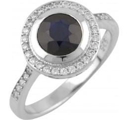 Серебряное кольцо SilverBreeze с натуральным сапфиром (1465554) 17.5 размер