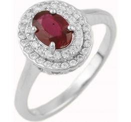 Серебряное кольцо SilverBreeze с натуральным рубином (1467527) 17 размер