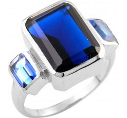 Серебряное кольцо SilverBreeze с сапфиром nano (1509579) 17.5 размер