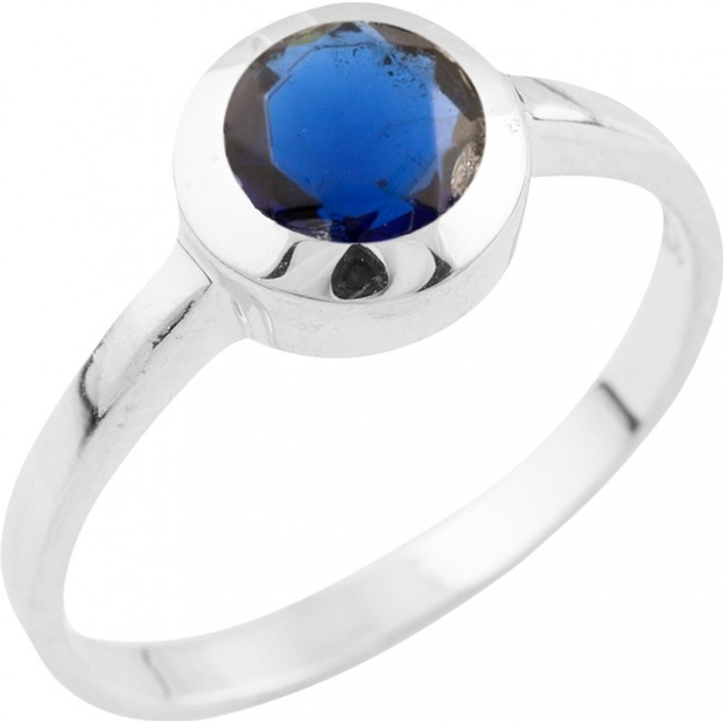 Серебряное кольцо SilverBreeze с сапфиром nano (1509791) 18 размер