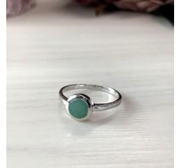 Серебряное кольцо SilverBreeze с натуральным изумрудом (1516904) 18 размер