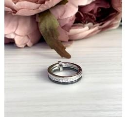 Серебряное кольцо SilverLine с керамикой (1523841) 18 размер