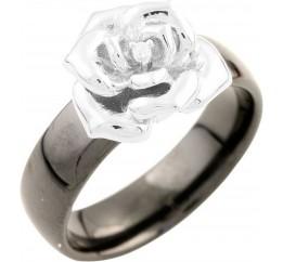 Серебряное кольцо SilverBreeze с керамикой (1540206) 18.5 размер