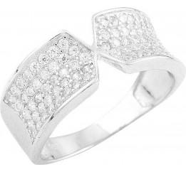 Серебряное кольцо SilverBreeze с фианитами (1560693) 18 размер