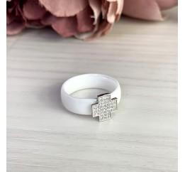Серебряное кольцо SilverBreeze с керамикой (1577202) 18.5 размер