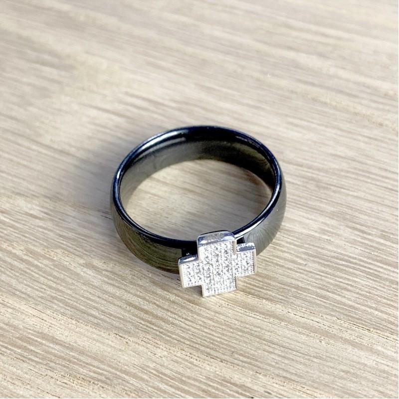 Серебряное кольцо SilverBreeze с керамикой (1577219) 17 размер