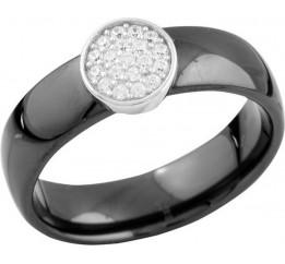 Серебряное кольцо SilverBreeze с керамикой (1577233) 18 размер