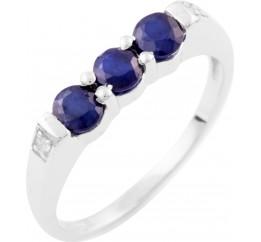 Серебряное кольцо SilverBreeze с натуральным сапфиром (1636482) 17 размер