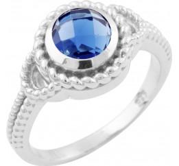 Серебряное кольцо SilverBreeze с сапфиром nano (1648186) 18 размер