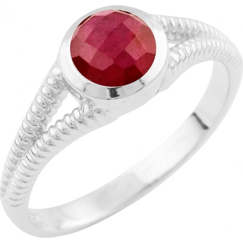 Серебряное кольцо SilverLine с натуральным рубином (1648483) 18 размер