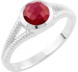 Серебряное кольцо SilverBreeze с натуральным рубином (1648483) 16.5 размер