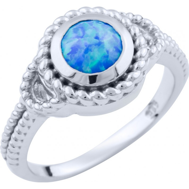 Серебряное кольцо SilverBreeze с опалом (1660324) 18.5 размер