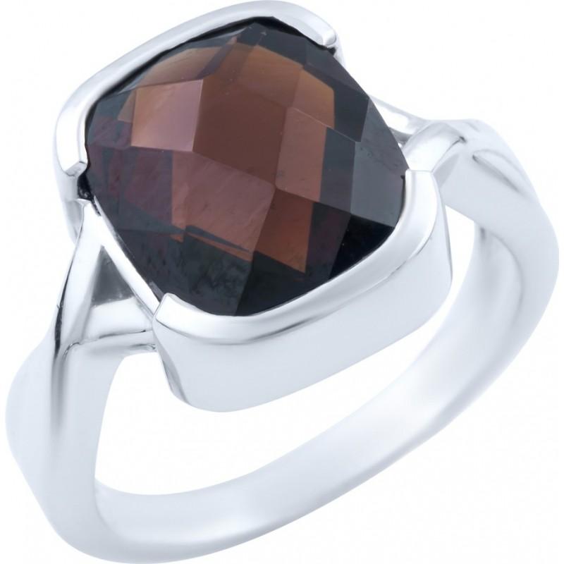 Серебряное кольцо SilverBreeze с натуральным гранатом (1663684) 18.5 размер