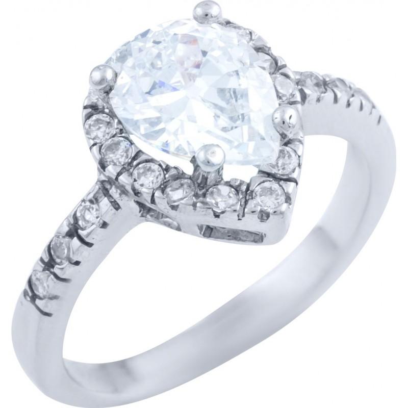 Серебряное кольцо SilverBreeze с фианитами (1728567) 17.5 размер
