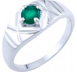 Серебряное кольцо SilverBreeze с натуральным агатом (1740095) 19 размер
