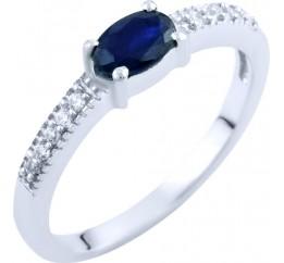 Серебряное кольцо SilverLine с натуральным сапфиром (1762875) 17 размер